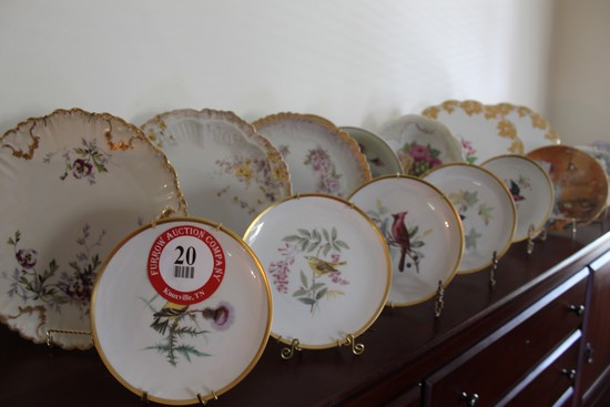 (16) Decorative Hand Painted Plates, Platters, Bowls, Etc.