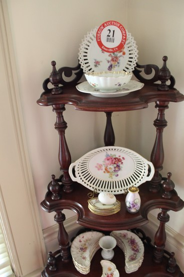 Contents of 5 Tier Shelving Unit To Include: Decorative Porcelain and Glass