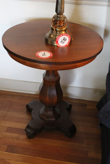 Mahogany Lamp Table, Single Pedestal