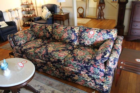 Decorative Floral Upholstered Sofa