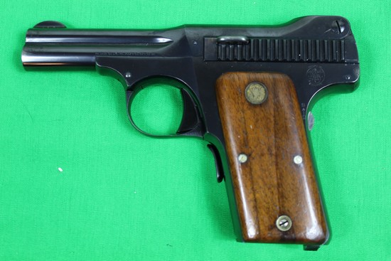 Smith & Wesson model 1913 pistol, caliber 35 Automatic, s/n 2294.  Blue fin