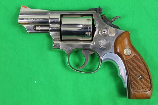 Smith & Wesson model 19-5, caliber 357 magnum, s/n 99K9976.  Full nickel, 2