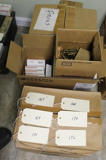 1,310 rounds total 223 Remington  43 boxes (50) PMC FMJ, 12 boxes (20) mixe
