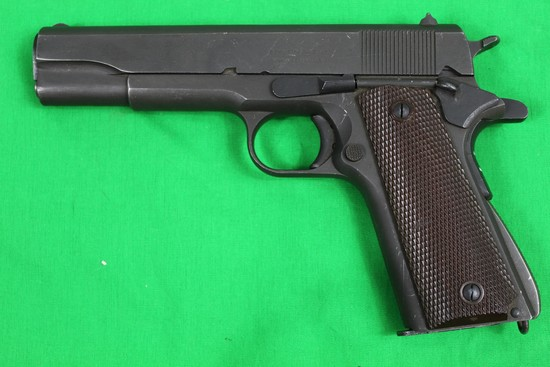 U.S. 1911A1, caliber 45 auto, s/n 1841961.  Remington-Rand marks, 1911 (not