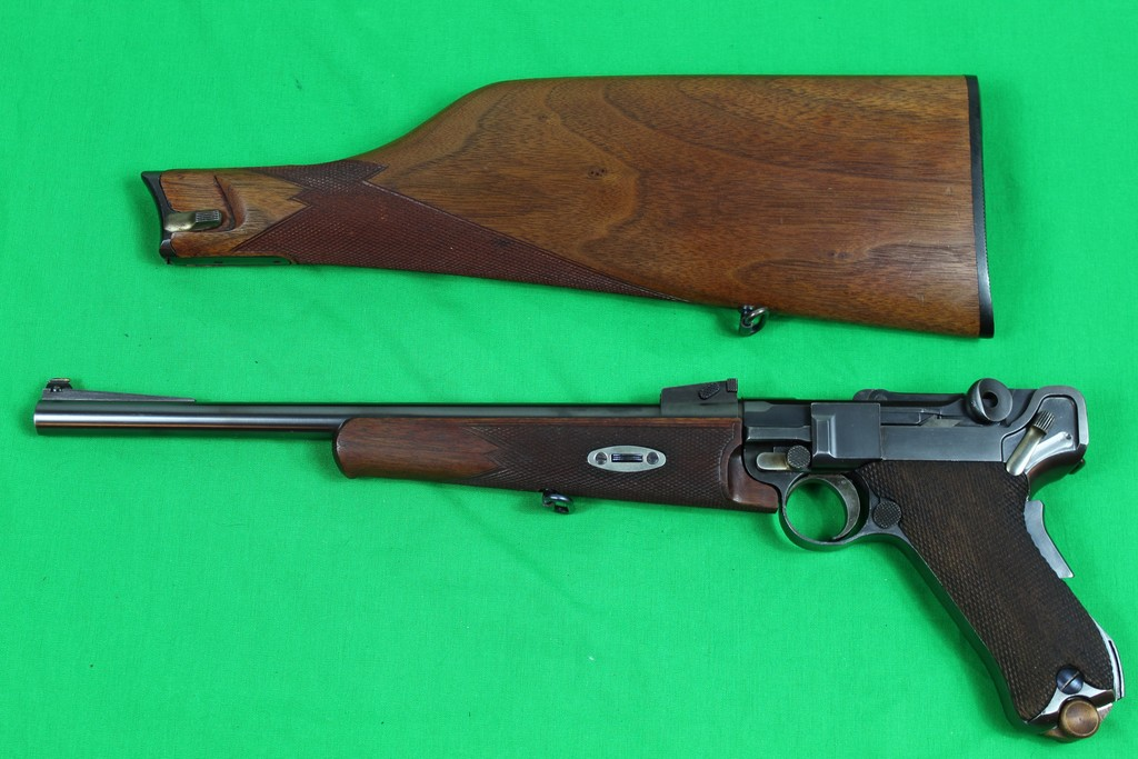 Luger Carbine Model, 30 caliber, s/n 25032.  Fine metal and wood condition,
