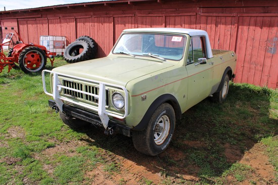 1976 International Scout Pick-Up, 4 Speed, 4WD, VIN F0092FGD24993 - Title