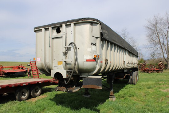 1984 Fruehauf 36' Aluminum Dump Trailer, Frameless VIN  1H5D03525DN012001 Title To Be Furnished In