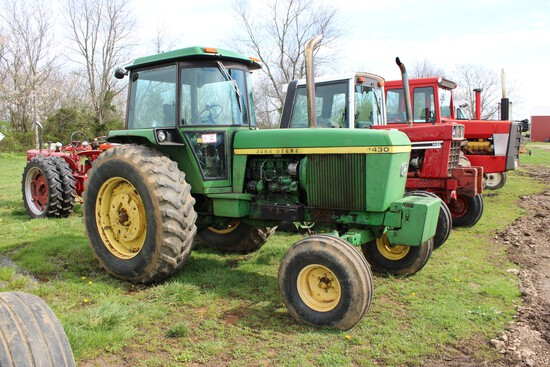 John Deere 4430 Tractor, C/H/A, Cab, Hours Unknown, Full Set of Front Weigh