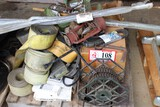 Contents of Pallet: Various Chains, Strapping Hoses, Etc.