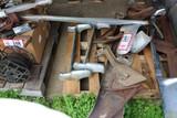 Contents of (3) Pallets: Metal Bumpers, Truck & Car Parts, Fuel Cans, Etc.
