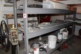 Contents Of Shelves: Bull Float, Jitterbug, Concrete Finishing Tools, Vario
