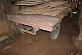 Set of Running Gears w/ Flatbed Hay Wagon