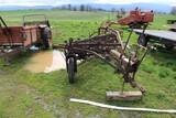 Antique Wheel Driven Hay Rake
