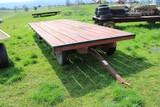 Set of Running Gear w/ Flatbed Hay Wagon