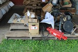 Contents of Pallet: Various Tractor & Implement Parts, Hyd Cylinders, Hoses