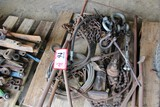 Contents of Pallet: Various Chain, Clevises, Wire, Cable, Etc.