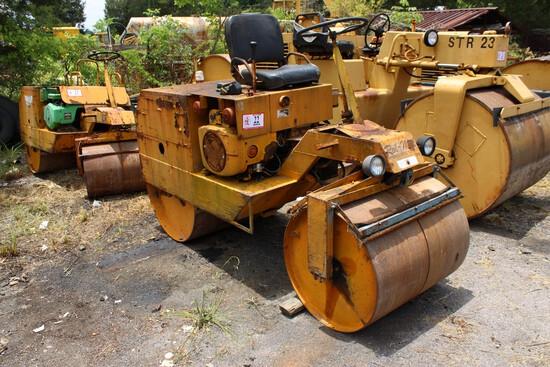 "Rol-Mol Model 304 36"" Double Drum Roller, Gas Engine, s/n 207 - Needs Work"