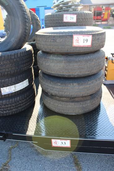 (4) Trailer Tires & Wheels, 8 Lug 235/80R16