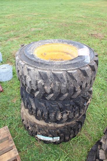 (3) 12-16.5 Skid Steer Loader Tires