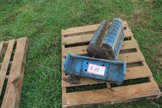 (8) Ford Tractor Weights w/ Bracket