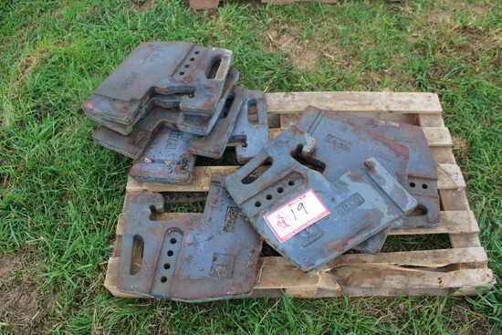 (8) New Holland Tractor Weights