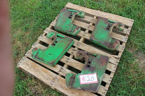 (4) John Deere Tractor Weights
