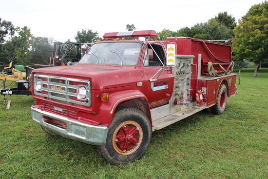 1984 GMC 7000 Fire Truck, Diesel, Automatic Transmission, 15,436 Odometer R
