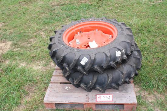 Kubota Front & Rear Tractor Tires, Wheels & Rims - Unused
