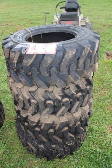 (4) 12-16.5 Skid Steer Tires