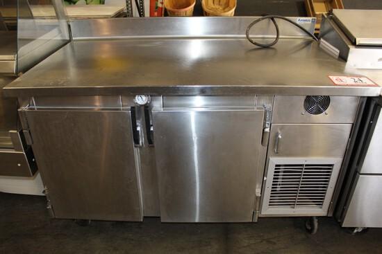 "Amtekco Stainless Steel 2-door Refrigerated Work Table, 60"" X 34"""