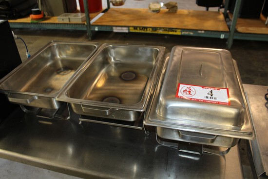 (3) Chafing Dishes W/ Warming Lids