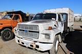 1990 Ford Single Axle Dump/Chipper Truck
