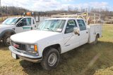 2000 GMC 3500 Crew Cab, Service Bed, Ladder Rack, V8 Automatic, 169,412 Mil