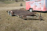 Metal 2 Axle Trailer, 16' - No Title Ever