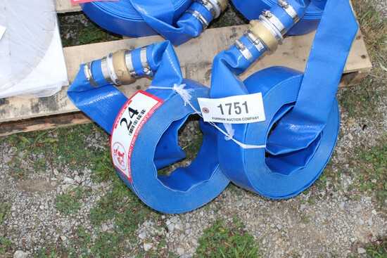 """(2) New 2"""" x 50ft Discharge Water Hoses"""
