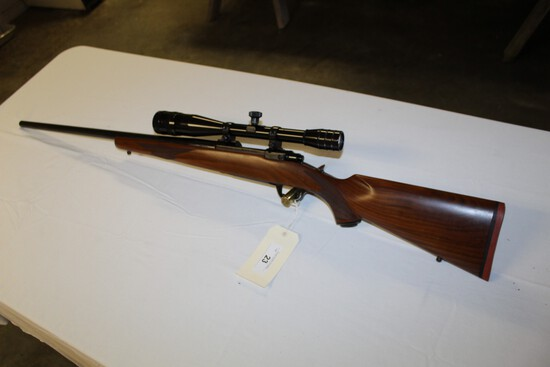 Ruger M77 Bolt Action, 220 Swift Bull Barrel w/ Redfield 24X Scope s/n 73-2