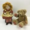 RAGGEDY ANN DOLL & TEDDY BEAR