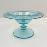 PADEN CITY PEACOCK BLUE DEPRESSION FOOTED BOWL