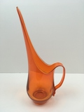 MID CENTURY MODERN TANGERINE ORANGE PITCHER