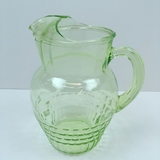 GREEN VASELINE / URANIUM DEPRESSION PITCHER