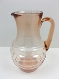 PINK DEPRESSION PITCHER WITH RIBBING