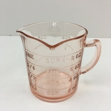KELLOGG'S PINK DEPRESSION 3 SPOUT MEASURING CUP