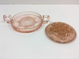 2 PCS PINK DEPRESSION GLASS