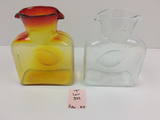 2 BLENKO BLOWN GLASS WATER BOTTLES #384