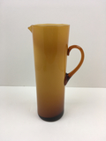 MID CENTURY MODERN AMBER CASED GLASS PITCHER