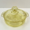"PADEN CITY ""ARDITH"" YELLOW CANDY DISH"