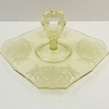 "PADEN CITY ""GOTHIC GARDEN"" YELLOW HANDLED PLATE"