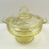"PADEN CITY ""GOTHIC GARDEN"" YELLOW CANDY DISH"