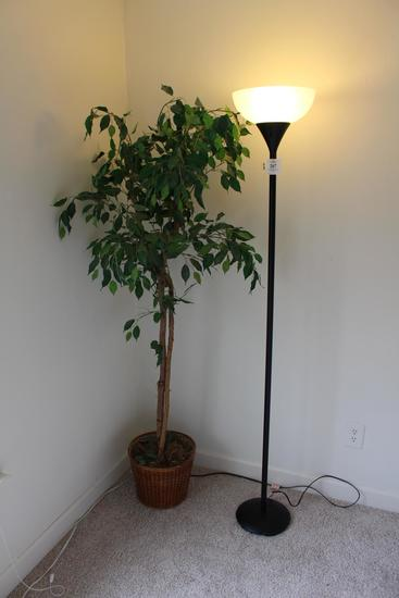 Floor Lamp & Faux Tree