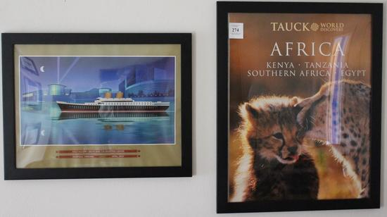 Pair Of Framed Travel Prints